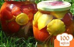 Фото рецепта: «Патиссоны, маринованные с помидорами»