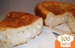 Фото рецепта: «Пирог наливной с рисом и яйцом»