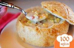Фото рецепта: «Сырно-кукурузная похлебка»