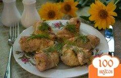 Фото рецепта: «Мясные голубцы с капустой»