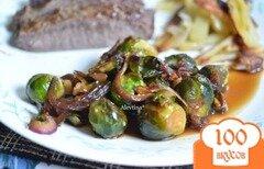 Фото рецепта: «Брюссельская капуста с кунжутным семенем»