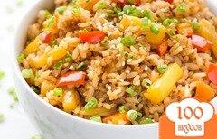 Фото рецепта: «Рис с ананасом и овощами»