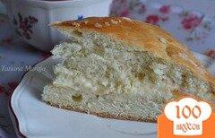 Фото рецепта: «Медовый пирог с прослойкой из маскарпоне»