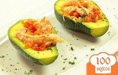 Фото рецепта: «Жареные креветки с авокадо»
