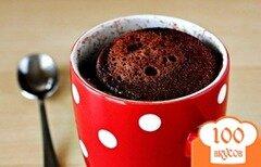 Фото рецепта: «Шоколадный кекс в кружке»
