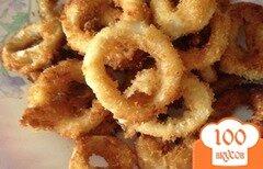 Фото рецепта: «Кольца кальмара в сухарях»