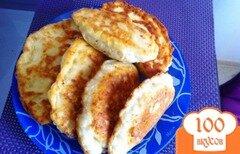 Фото рецепта: «Сырные лепешки с грибами»