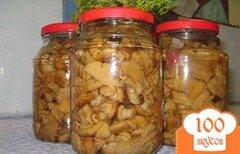 Фото рецепта: «Маринованные лисички с луком»