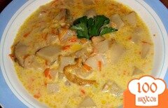 Фото рецепта: «Суп из свежих белых грибов в мультиварке»