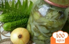 Фото рецепта: «Огурцы с репчатым луком»