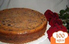 Фото рецепта: «Кукурузный пирог с творогом и черникой»