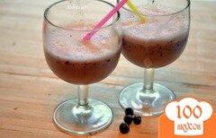 Фото рецепта: «Молочный коктейль с голубикой»