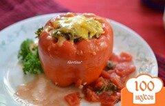 Фото рецепта: «Фаршированные сладкие перцы с грибами и фаршем»