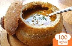 Фото рецепта: «Чечевичный суп в хлебе»