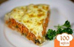 Фото рецепта: «Запеканка с морковью, грибами и курицей»