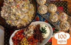 Фото рецепта: «Салат с лисичками под сметаной»