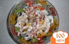 Фото рецепта: «Салат с языком и перцем»