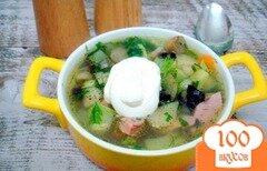 Фото рецепта: «Овощной суп с кабачками и сардельками»