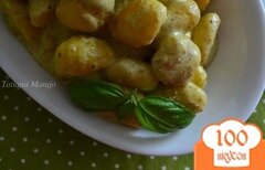Фото рецепта: «Ньокки в сырном соусе с песто»
