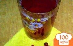 Фото рецепта: «Компот бруснично-персиковый»