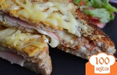 Фото рецепта: «Крок месье (горячий бутерброд)»
