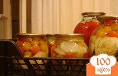 Фото рецепта: «Патиссоны, консервированные с помидорами»