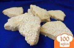 Фото рецепта: «Печенье с кунжутом и малиновым ароматом»