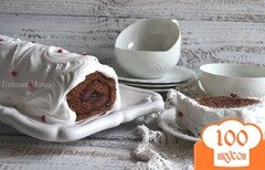 Фото рецепта: «Шоколадный рулет с меренгой»