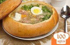 Фото рецепта: «Суп в хлебе по-польски»