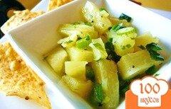 Фото рецепта: «Ананасовая сальса с перцем халапеньо»