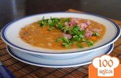 Фото рецепта: «Чечевичный суп с копченостями»