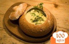Фото рецепта: «Суп в тарелке из хлеба»