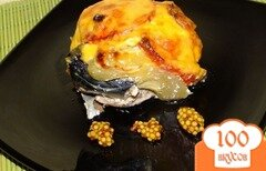 Фото рецепта: «Скумбрия, запеченная с помидорами»