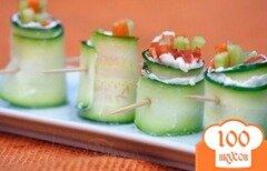Фото рецепта: «Вегетарианские овощные роллы»