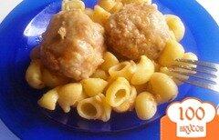 Фото рецепта: «Тефтели с хлопьями в томатной заливке»