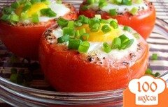 Фото рецепта: «Яичница в помидорах»