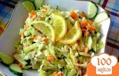Фото рецепта: «Салат с белокочанной капустой»