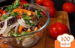 Фото рецепта: «Быстрый рецепт маринованных баклажанов»