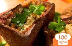 Фото рецепта: «Грибной суп в бородинском хлебе»