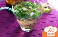 Фото рецепта: «Безалкогольный Мохито с базиликом»