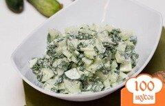 Фото рецепта: «Салат из огурцов и зелени»