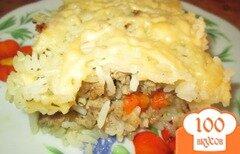 Фото рецепта: «Запеканка из риса с фаршем»