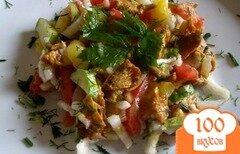 Фото рецепта: «Салат с лисичками и картофелем»