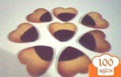 Фото рецепта: «Печенья-сердечки»