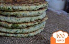 Фото рецепта: «Луково-шпинатные лепешки»