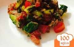 Фото рецепта: «Салат из говядины и овощей на костре»