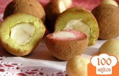 Фото рецепта: «Конфеты из марципана с орехом макадамия»