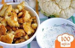 Фото рецепта: «Цветная капуста в кляре + соус»
