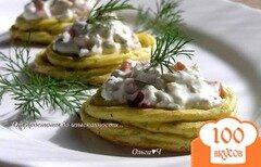 Фото рецепта: «Картофельные гнезда с творожным сыром и сладким перцем»