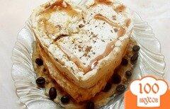 Фото рецепта: «Ванильное пирожное безе с заварным кофе-кремом»